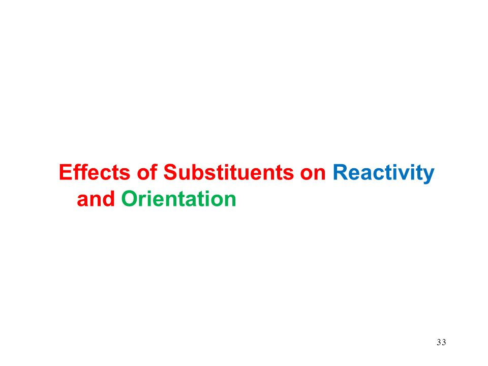 Effects of Substituents on Reactivity and Orientation 33