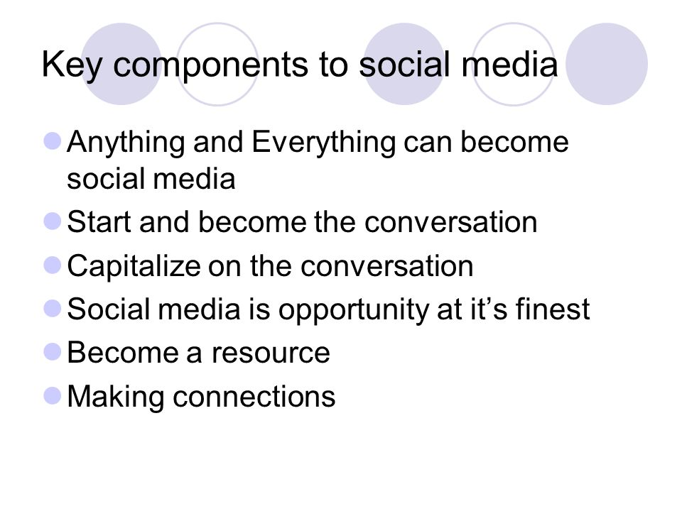The Purpose Show how all social media connects Show how connection provides improvement for resumes Show examples of how professional journalist are using social media Dos & Don ts of social media Provide different blog sites to display work