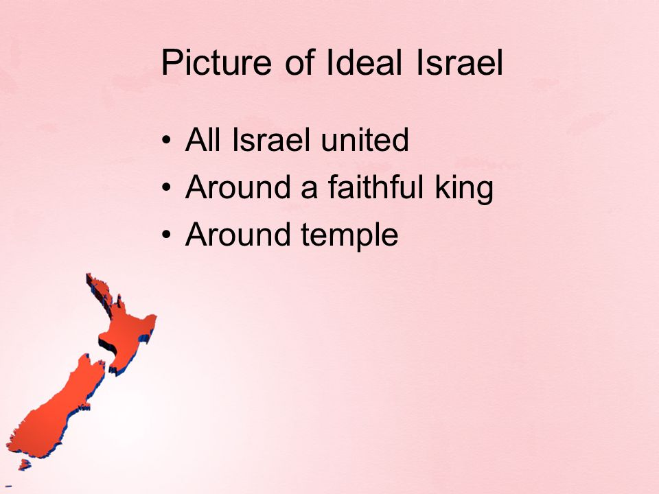 Picture of Ideal Israel All Israel united Around a faithful king Around temple