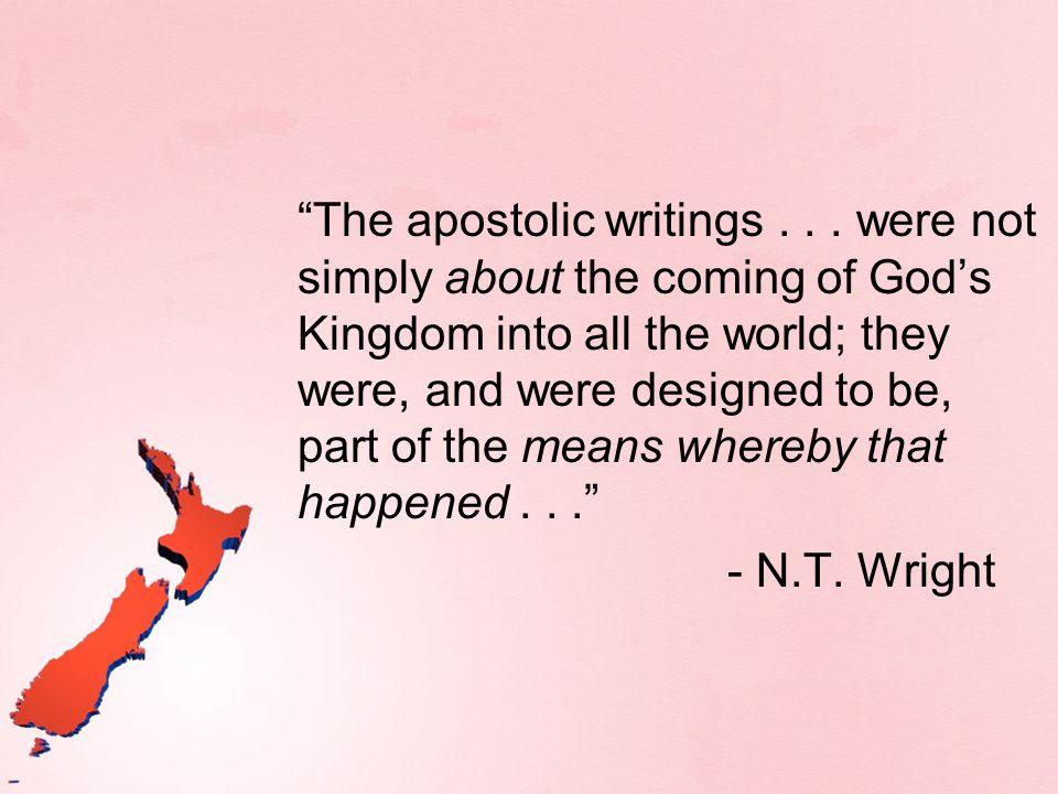 Basic Overview Old Testament Scriptures Work of Jesus Christ Apostolic proclamation New Testament Scriptures