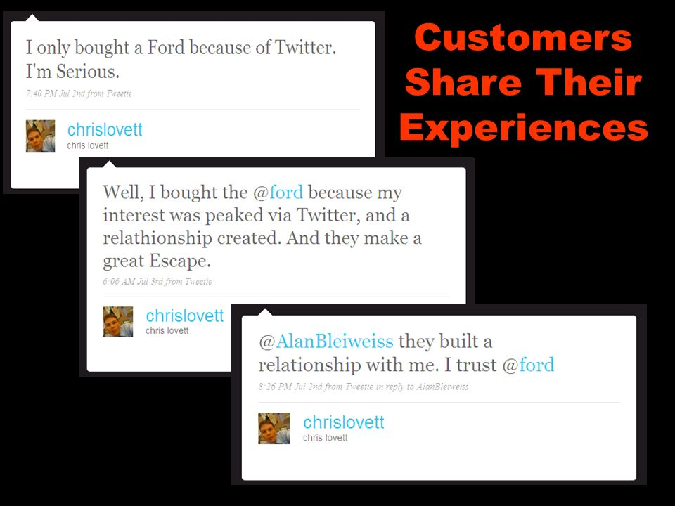 Customers Share Their Experiences