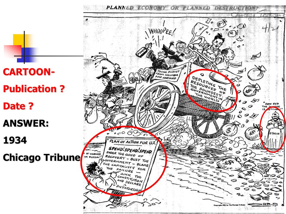 59 CARTOON- Publication ? Date ? ANSWER:1934 Chicago Tribune