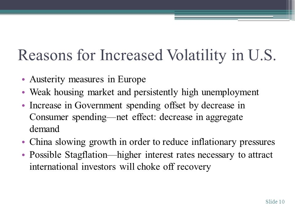 Reasons for Increased Volatility in U.S.