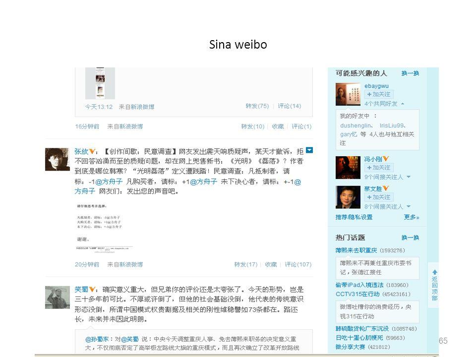 Sina weibo 65