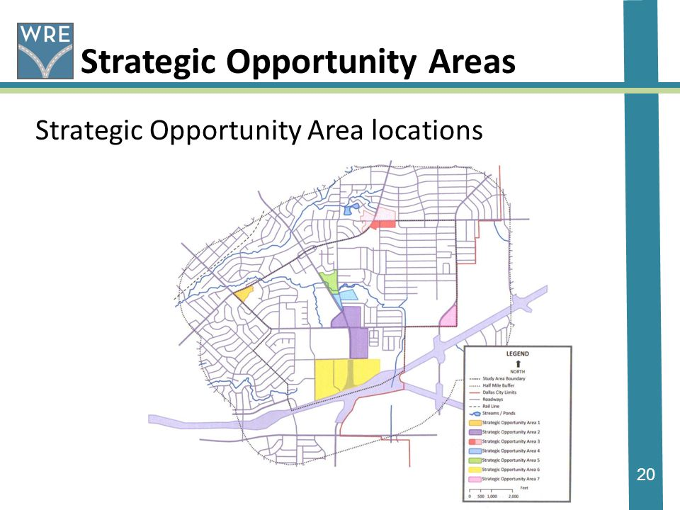20 Strategic Opportunity Areas Strategic Opportunity Area locations