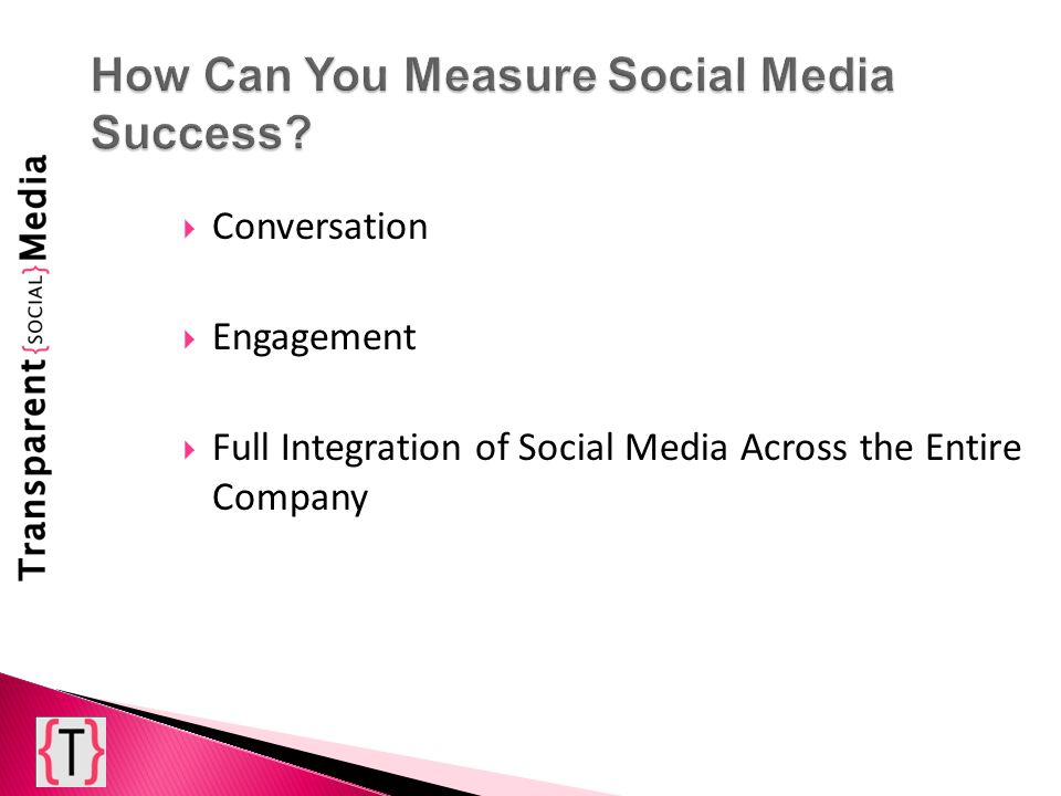 Conversation Engagement Full Integration of Social Media Across the Entire Company