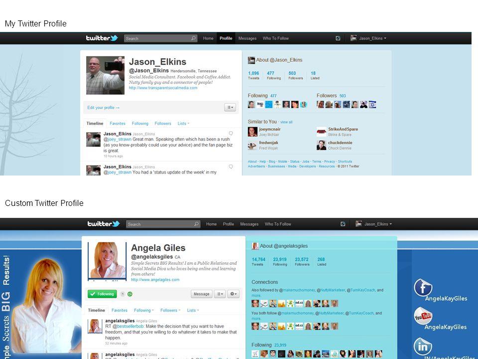 76 My Twitter Profile Custom Twitter Profile