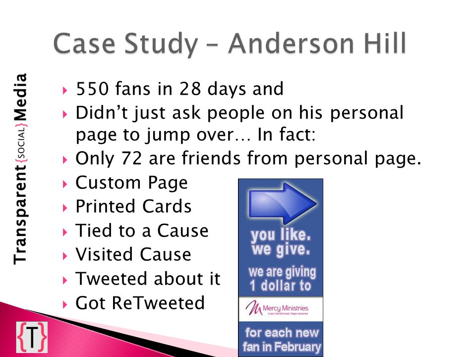 550 fans in 28 days and Didnt just ask people on his personal page to jump over… In fact: Only 72 are friends from personal page. Custom Page Printed