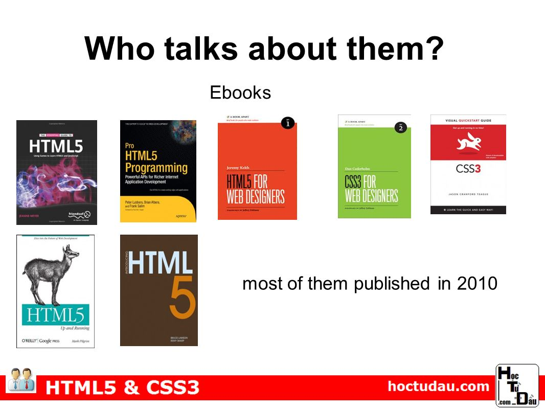 Who talks about them Ebooks most of them published in 2010