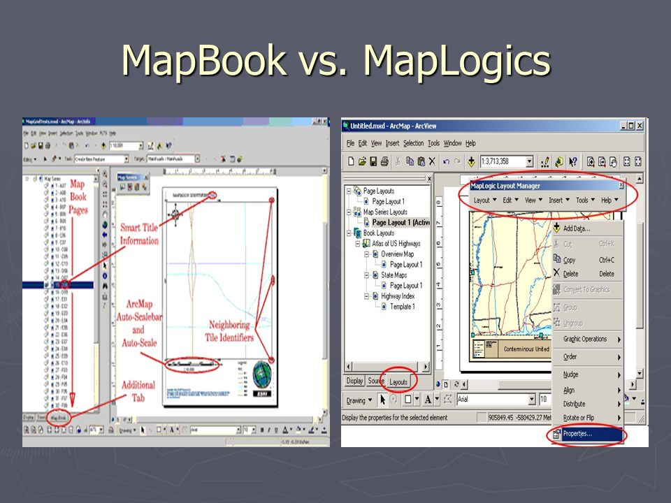 MapBook vs. MapLogics