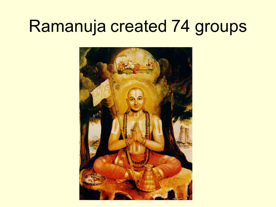 Ramanuja created 74 groups