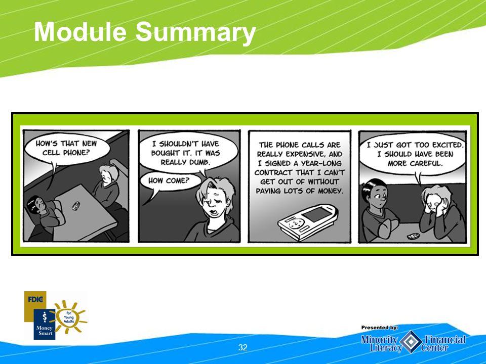 32 Module Summary
