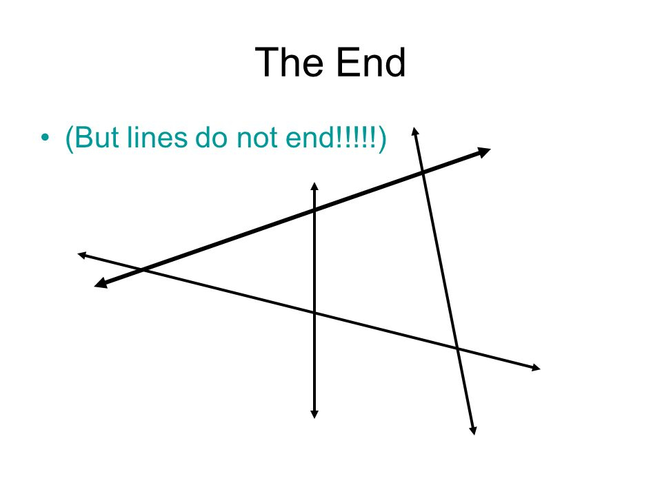 The End (But lines do not end!!!!!)