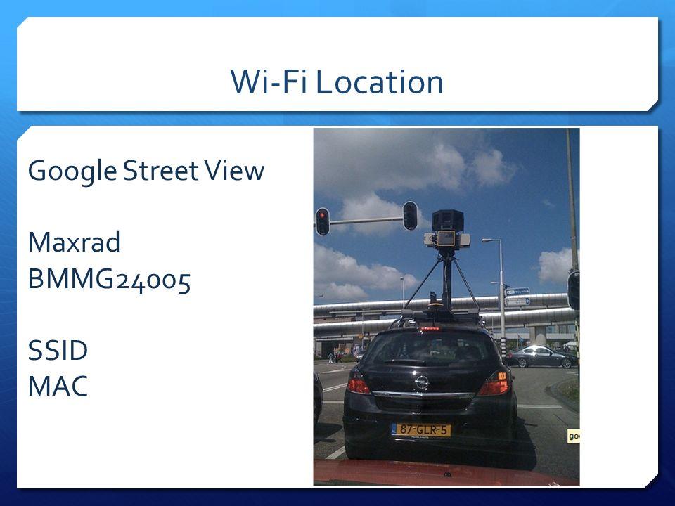 Google Street View Maxrad BMMG24005 SSID MAC