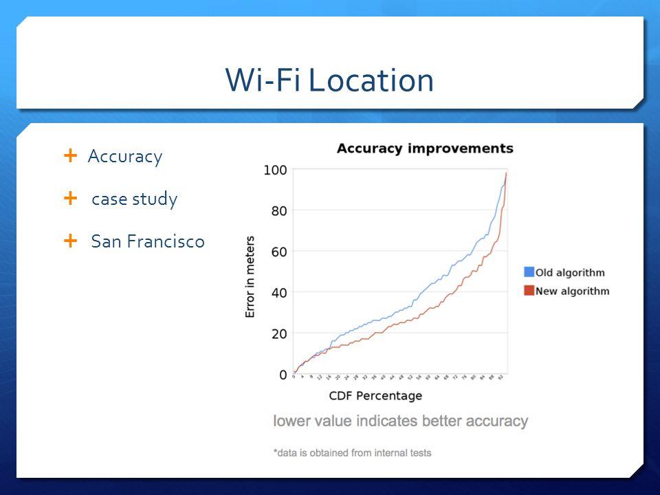 Wi-Fi Location Accuracy case study San Francisco