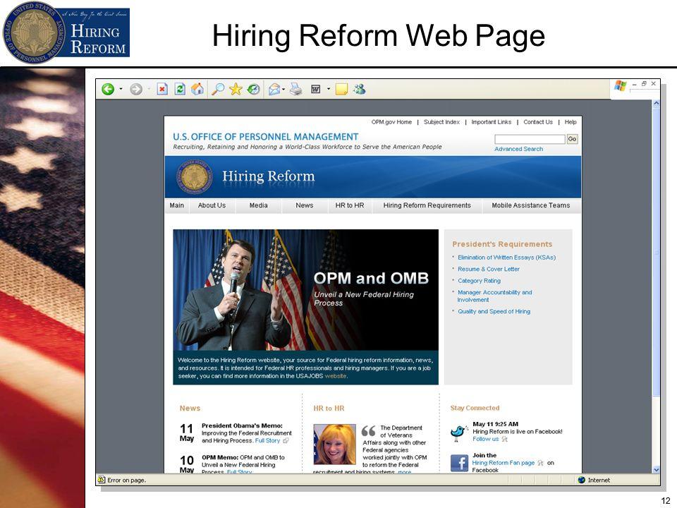 12 Hiring Reform Web Page