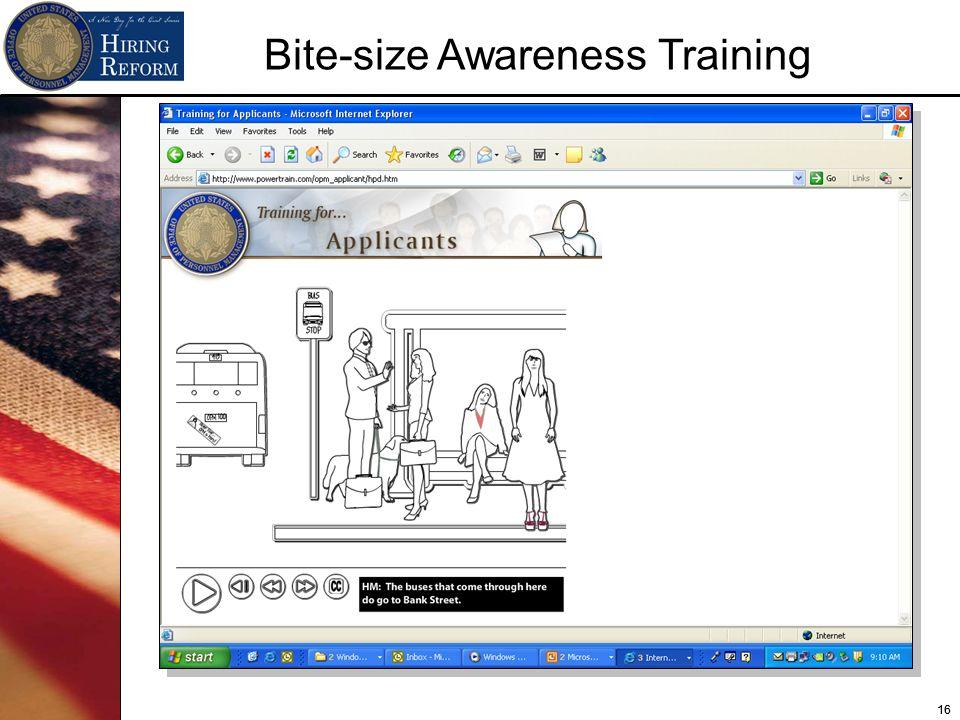 16 Bite-size Awareness Training