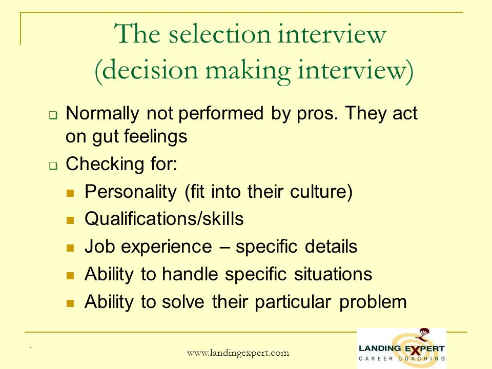www.landingexpert.com Salary negotiations Research reveals that 8 out of 10 HR people expect to receive counteroffers A good negotiator may impress the hiring manager When negotiating look at the entire package.