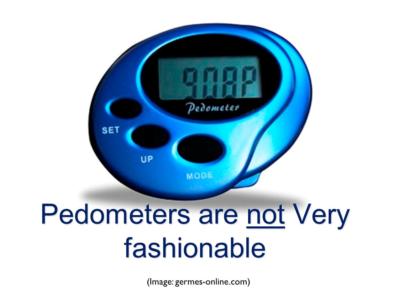 Pedometers are not Very fashionable (Image: germes-online.com)