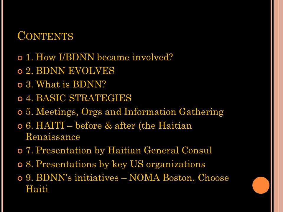 D ISASTER SOS: H AITI A BDNN PANEL DISCUSSION NEOCON IN C HICAGO, J UNE 15 Atim Annette Oton Co-Founder, Black Design News Network (BDNN)
