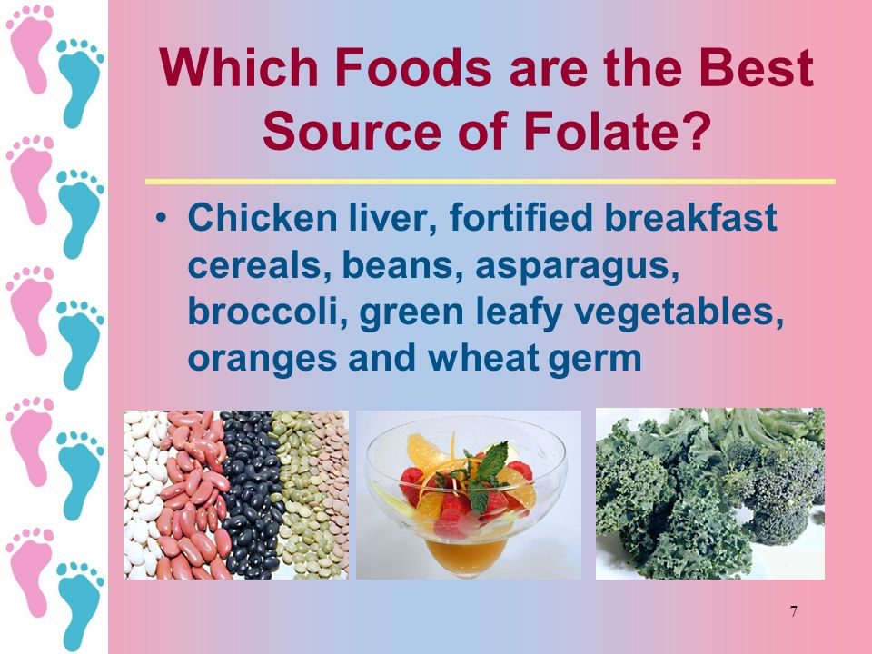 6 Folate Helps Prevent Birth Defects Folate is needed both before and in the first weeks of pregnancy It can help reduce the risk of neural tube defec