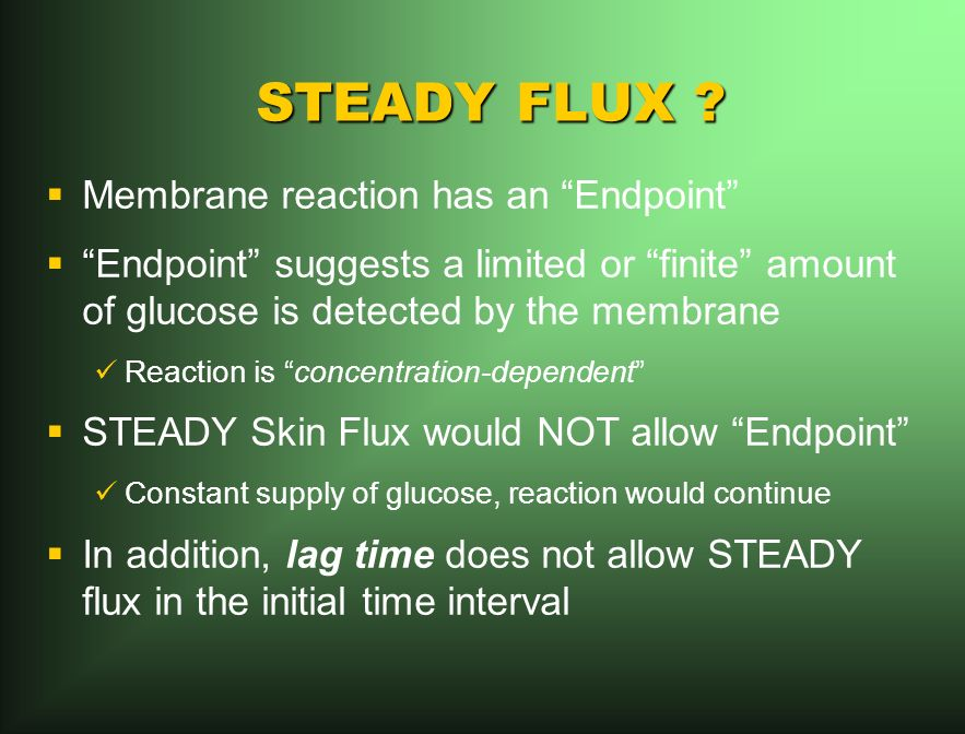 STEADY FLUX .