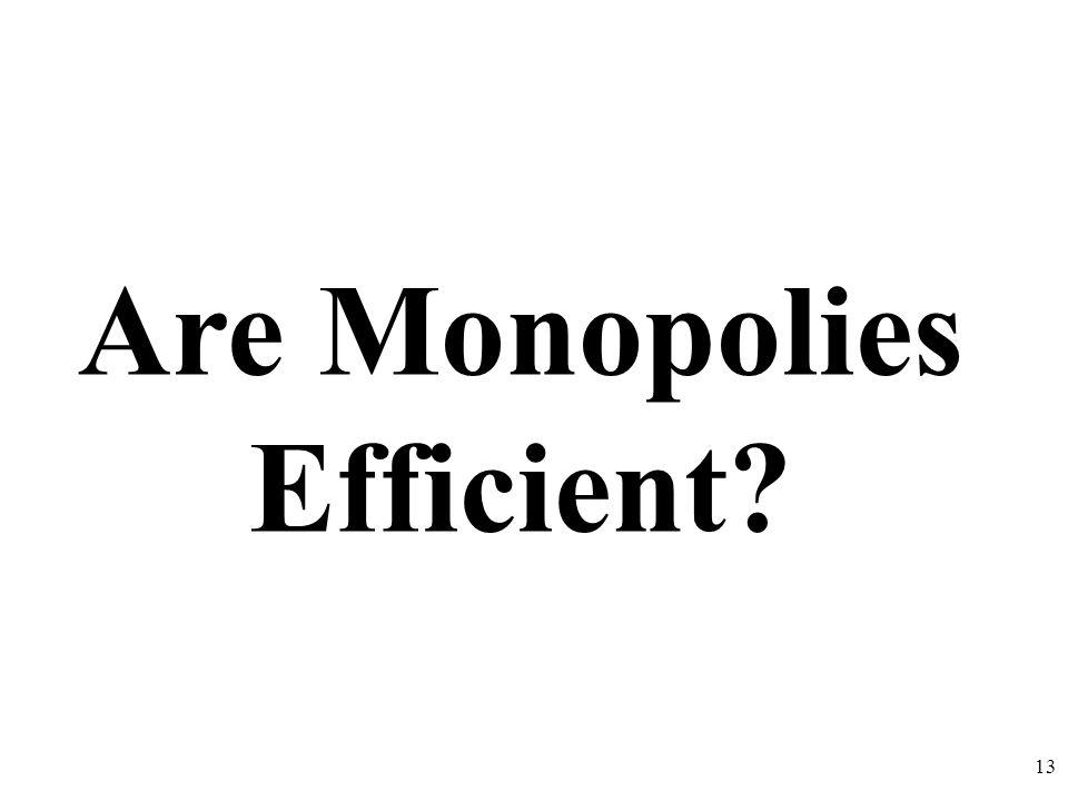 Are Monopolies Efficient? 13