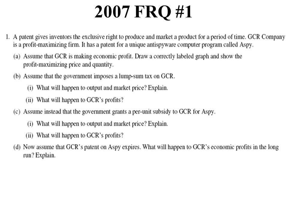 2007 FRQ #1