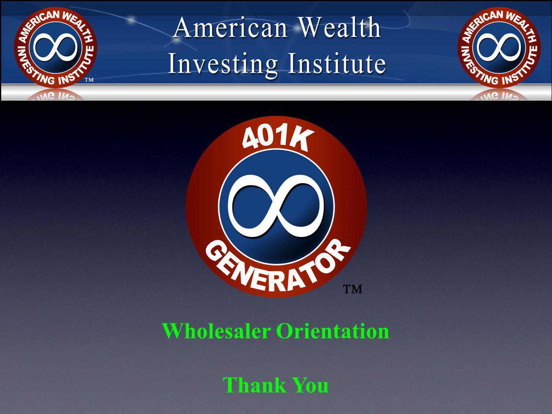 Wholesaler Orientation Thank You