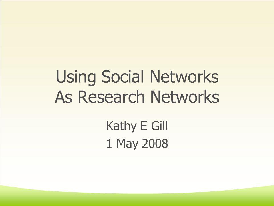 Outline Some definitions GaTech WWW Survey Social Network Sites Online Focus Groups