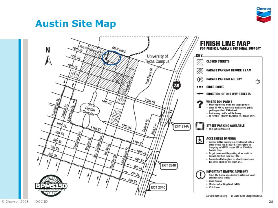 DOC ID © Chevron 2005 28 Austin Site Map