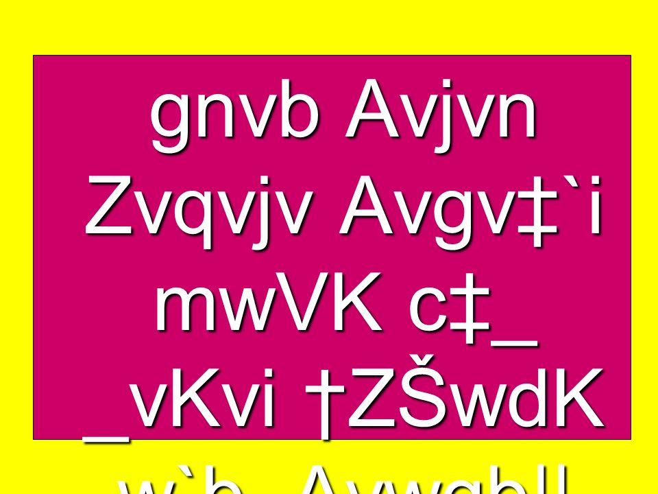 gnvb Avjvn Zvqvjv Avgv`i mwVK c_ _vKvi ZŠwdK w`b, Avwgb||
