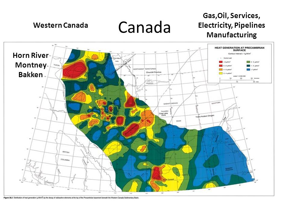 Canada Gas,Oil, Services, Electricity, Pipelines Manufacturing Western Canada Horn River Montney Bakken