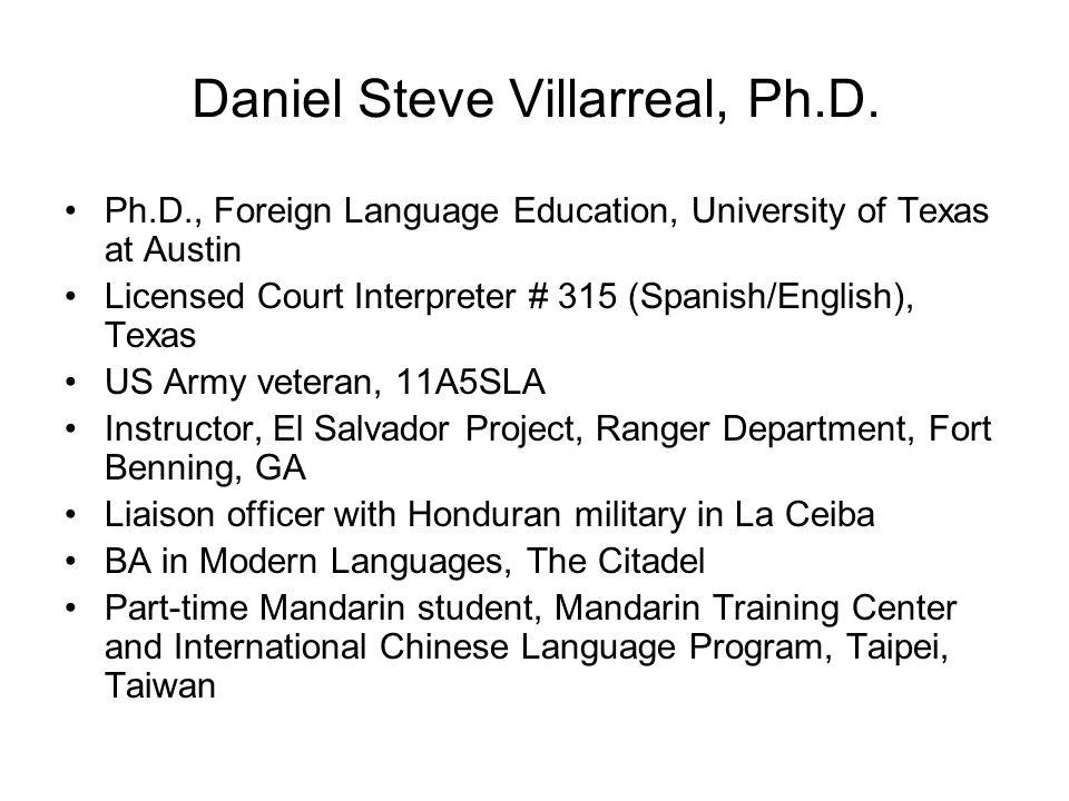 Daniel Steve Villarreal, Ph.D.