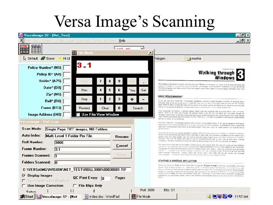 Versa Images Scanning
