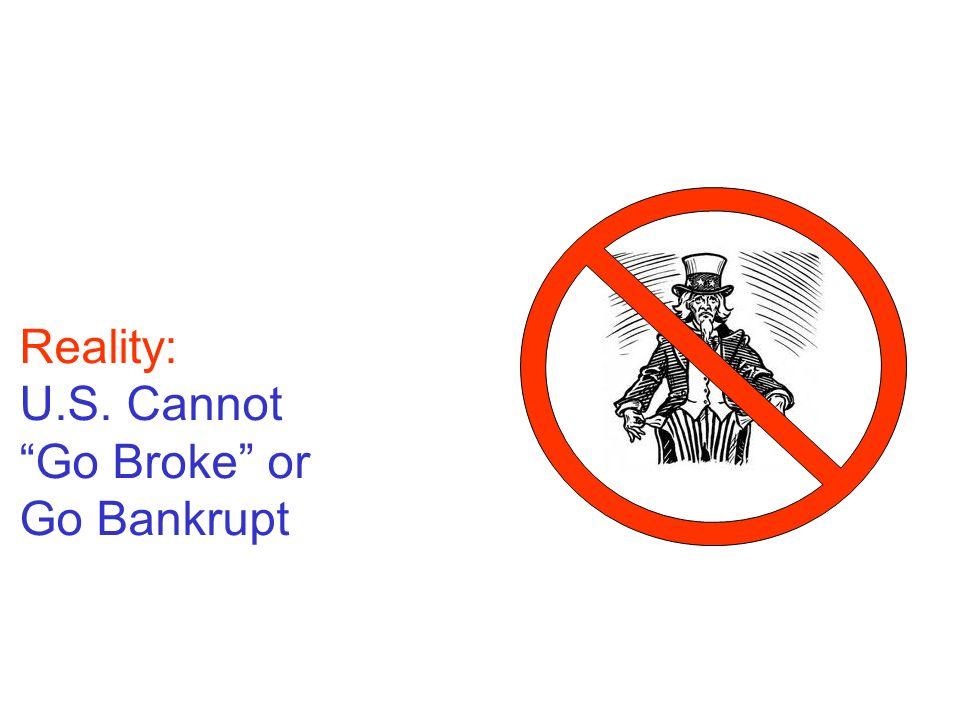 Reality: U.S. Cannot Go Broke or Go Bankrupt