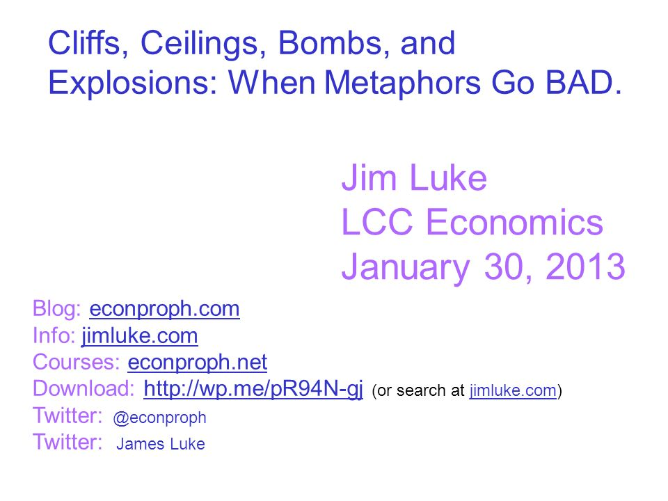 Cliffs, Ceilings, Bombs, and Explosions: When Metaphors Go BAD.