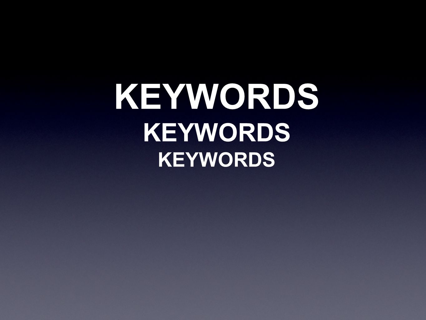 KEYWORDS KEYWORDS KEYWORDS
