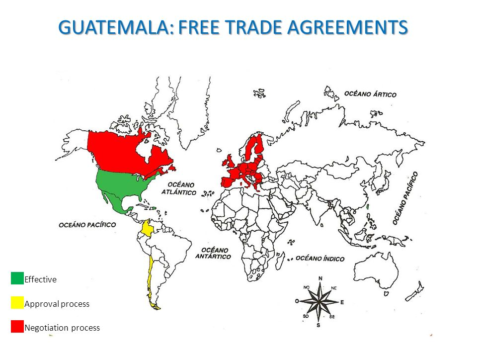 GUATEMALA: FREE TRADE AGREEMENTS Effective Approval process Negotiation process