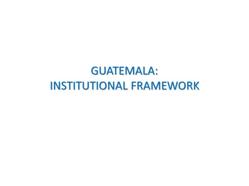 GUATEMALA: INSTITUTIONAL FRAMEWORK