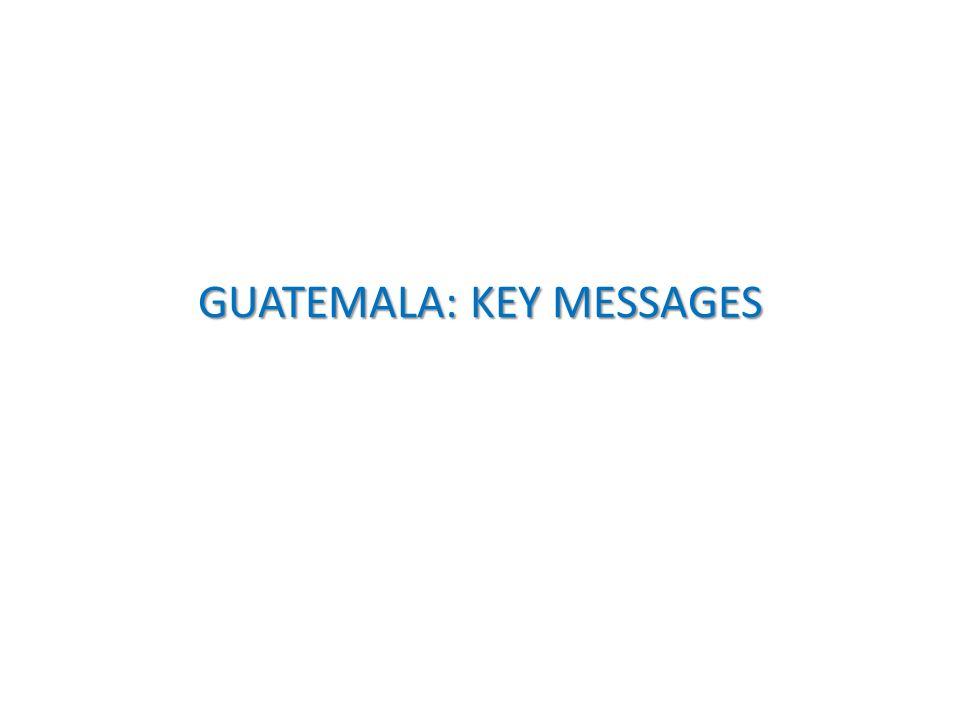 GUATEMALA: KEY MESSAGES