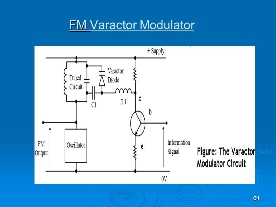 64 FM FM Varactor Modulator