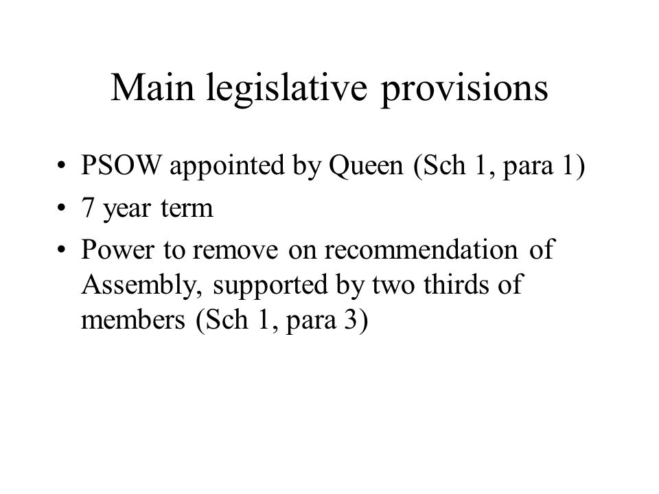 PSOW Act 2005, s 2 S2: power to investigate if..