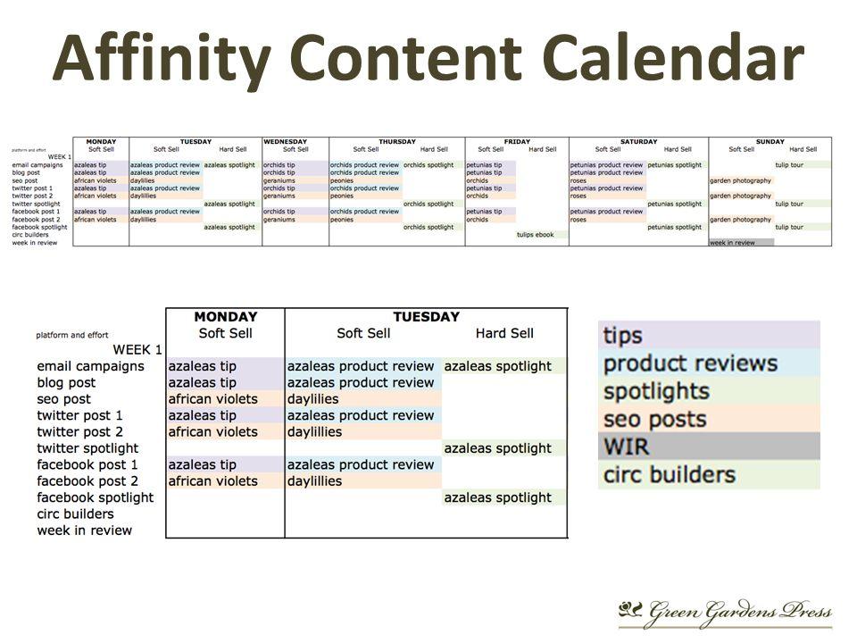 Affinity Content Calendar
