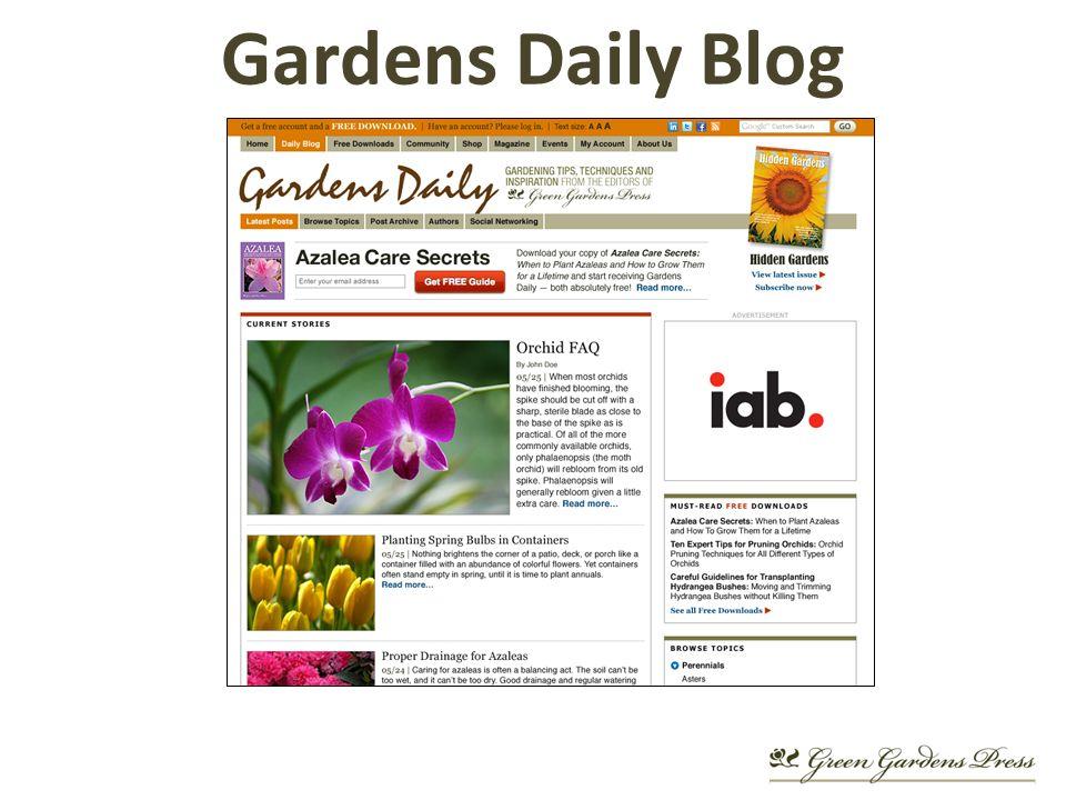 Gardens Daily Blog