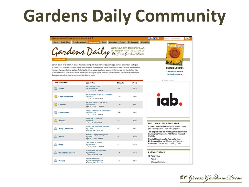 Gardens Daily Community
