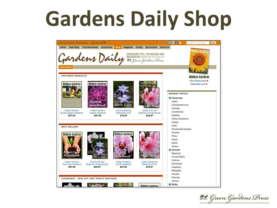 Gardens Daily Shop