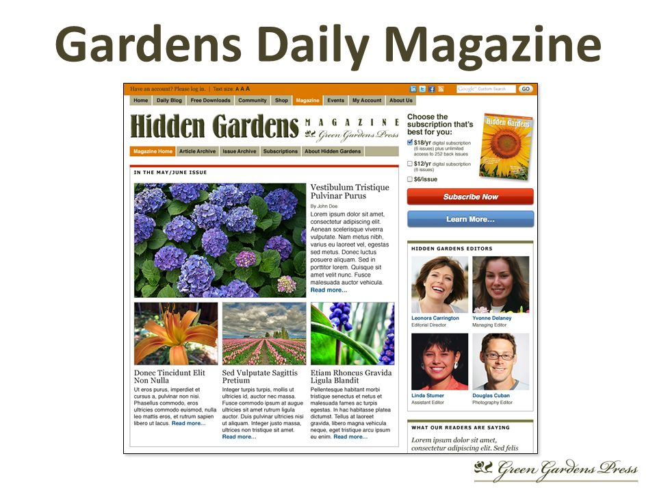 Gardens Daily Magazine