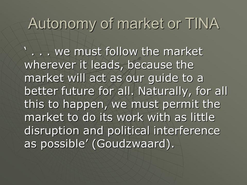 Autonomy of market or TINA...