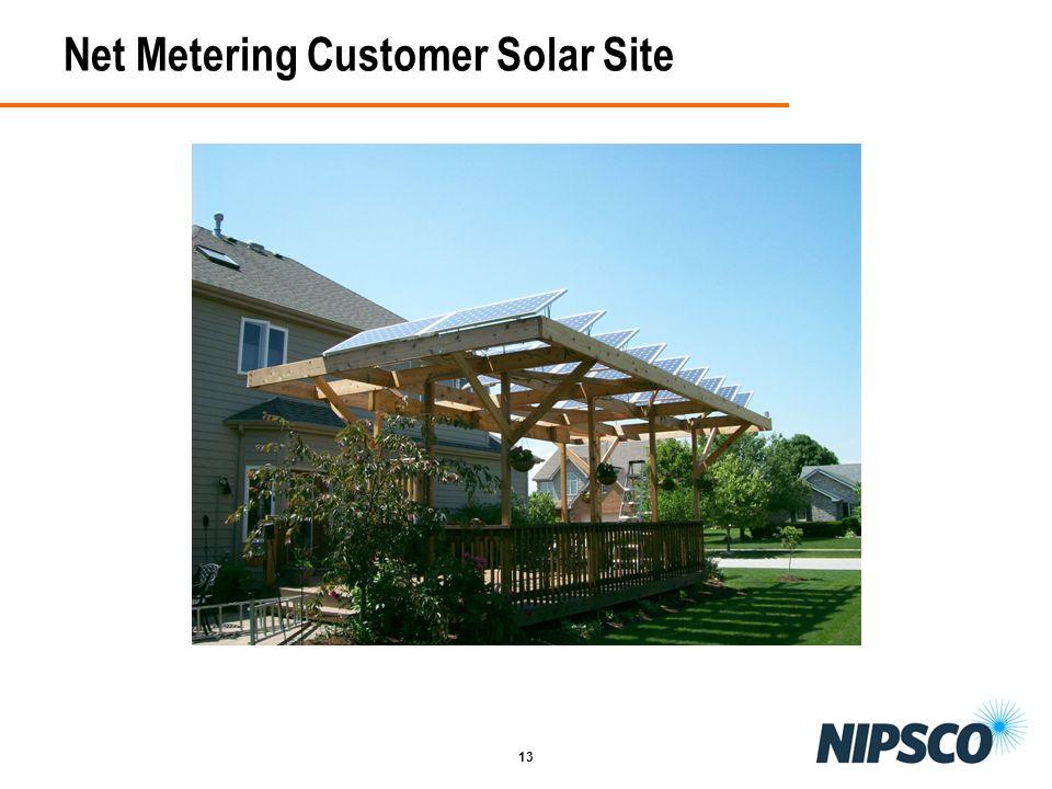 13 Net Metering Customer Solar Site